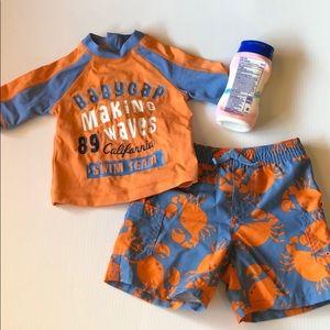 Baby Gap swimsuit and swim shirt